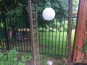 Iron fence and various hardware pieces