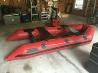 Polaris inflatable boat and accessories