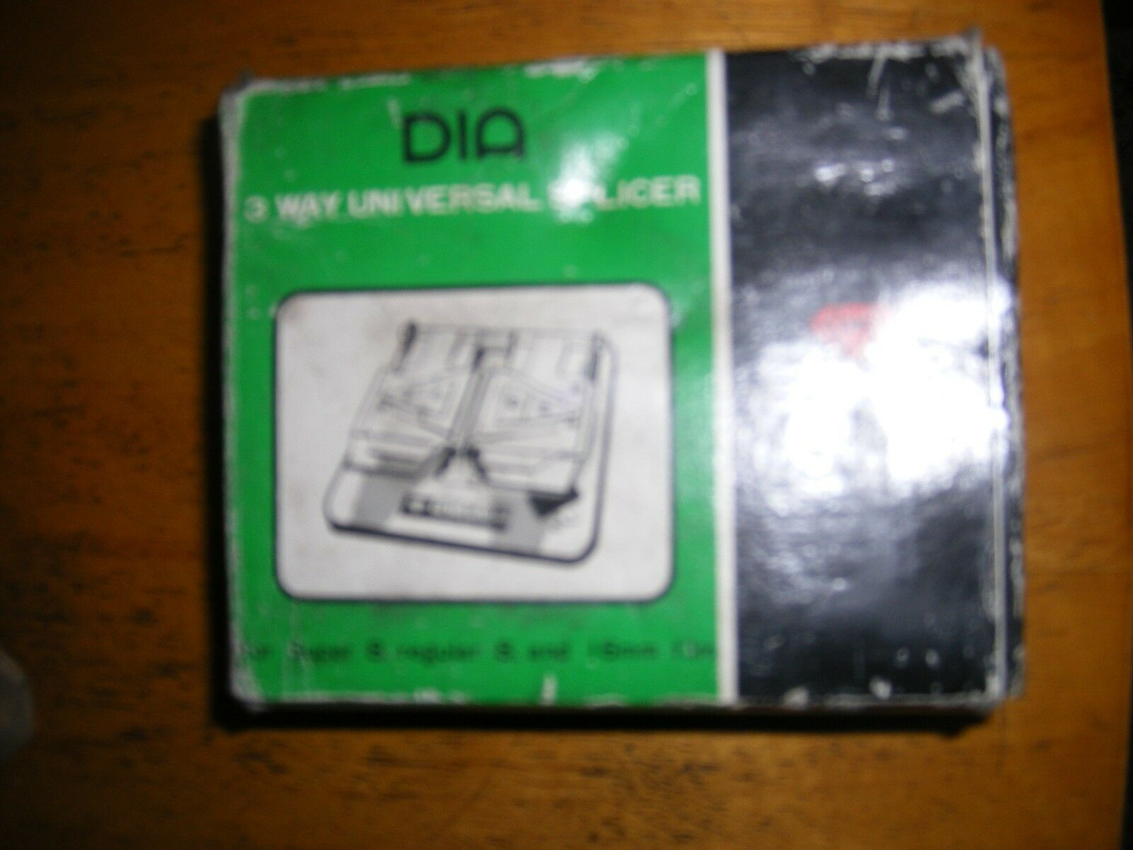 DIA 3Way Universal Film Splicer Super/Reg 8 and 16mm Box and Instructions Japan Made