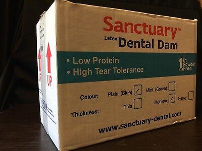 1040 Pcs Sanctuary Dental Rubber Dam Latex 5x5 Medium Blue Quality Guarantee