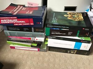 LAW TEXTBOOK BUNDLE - PROPERTY/ CONSTITUTIONAL/ TORTS/ CONTRACT etc Netherby Mitcham Area Preview