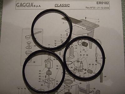 3x Gaggia Classic Baby Evo Tebe Boiler Gaskets O Rings EPDM 1st Class DM0041/082