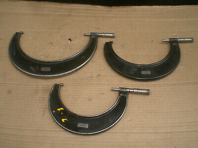 3 Vintage J T Slocomb Outside Micrometers 5 - 9