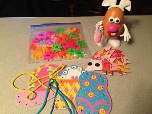 Mr potato head, letters and lacing cards Kitchener / Waterloo Kitchener Area image 1