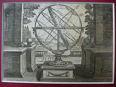 1750 KUPFERSTICH  ARMILLARSPHÄRE armillary sphere Florini Riegel Hauss Vatter online kaufen