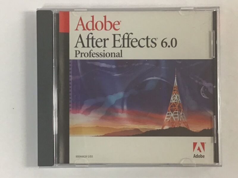 Adobe After Effects 6.0 Professional for Mac. w/Serial Number  FREE SHIPPING