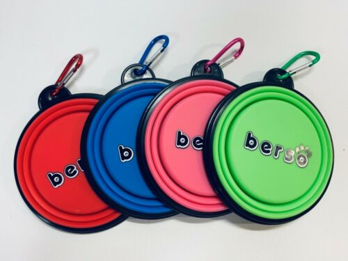 BERSO Portable ~ Silicone ~ Collapsible ~ Travel ~ Feeding Bowl