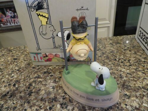 Hallmark Peanuts Gallery Figurine Snoopy & Charlie Brown 2013  Happiness is all.