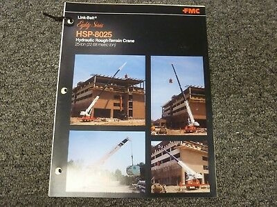 Link Belt Hsp-8025 Rough Terrain Crane Specification Lifting Capacities Manual