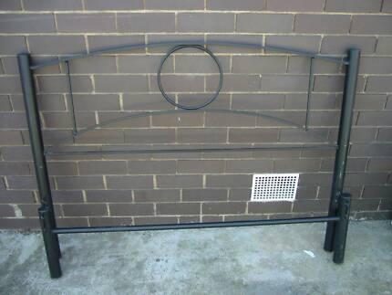Black metal double size bed frame Bundoora Banyule Area Preview