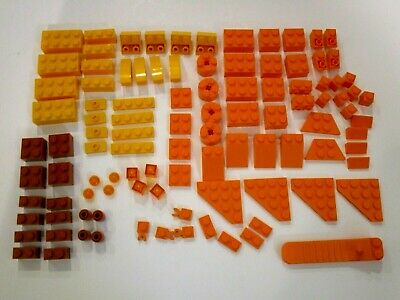 NEW Lego ORANGE Bricks Pieces LOT BRIGHT ORANGE DARK ORANGE TRANS-ORANGE