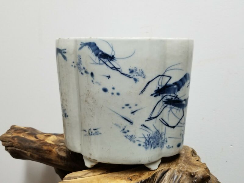 Fine Chinese  Porcelain Blue &White Pen Brush Pot Pen Washer