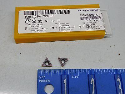 Mitsubishi Tcmt-21.51 Carbide Inserts 10 Pcs Grade Vp15tf