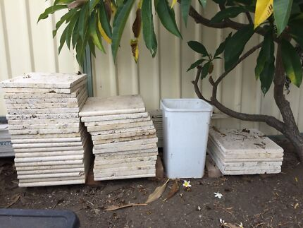 Travertine pavers LARGE step pads 405mm x 405mm x 28mm thick 44 pieces