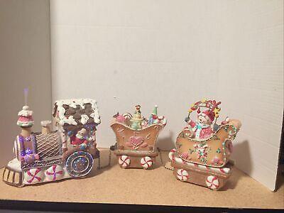 Ceramic Light Up 3 Piece Christmas Train Set