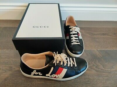 Gucci Blind For Love Ace Sneaker Trainer Black EU 42 UK 8