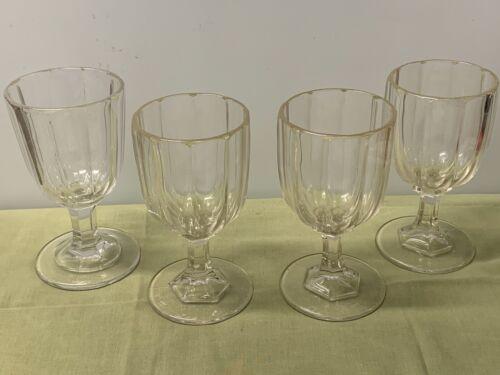 HUBER - STRAIGHT SIDE, WATER GOBLETS, FLINT GLASS  --  4