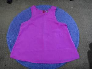 SIZE 12-14 TOP FROM BEGINNING BOUTIQUE BRIGHT FUSCHIA - AS NEW Collingwood Park Ipswich City Preview