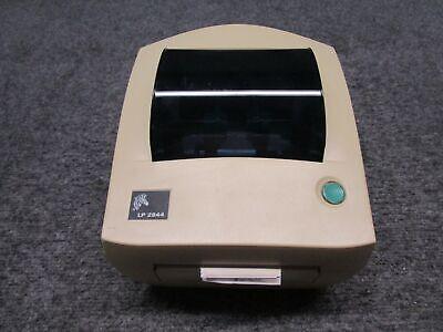 Zebra Lp 2844-z Ethernet Usb Serial Direct Thermal Label Printer Yellowing