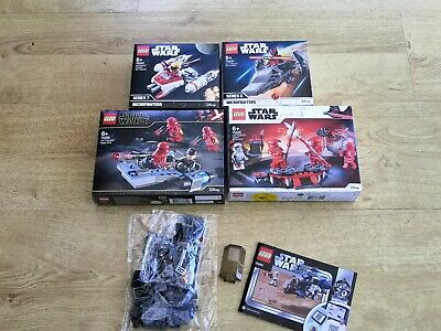 LEGO Star Wars Bundle 75262 75225 75226 75263 75224 Brand New NO MINIFIGURES
