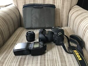 Nikon D90 body with optional lenses and accessories
