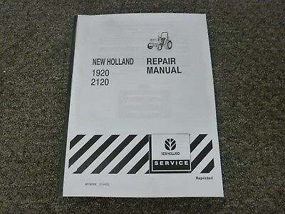 New Holland 1920 2120 Compact Utility Tractor Shop Service Repair Manual
