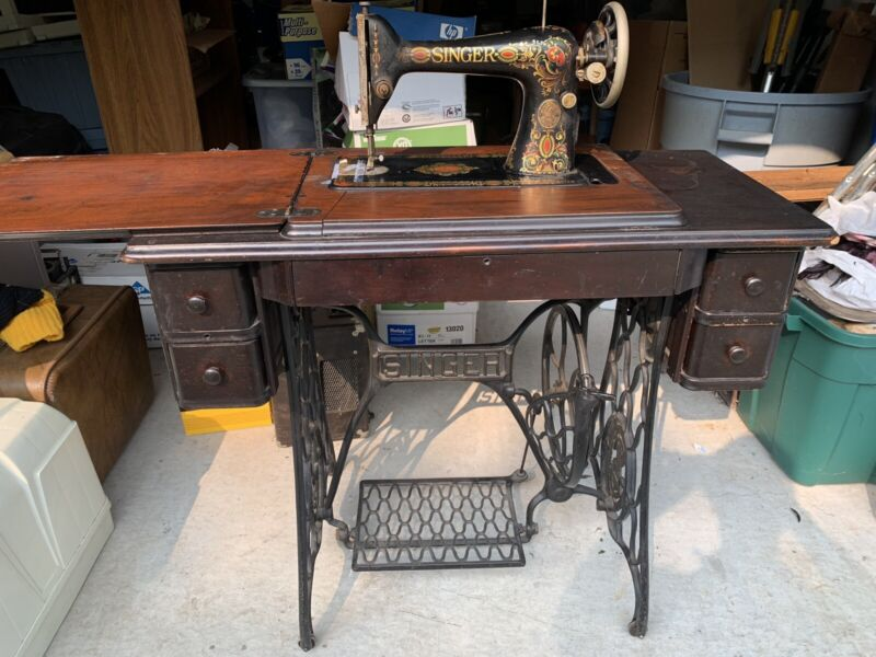 1922 Vintage Singer Red Eye Treadle Sewing Machine LOCAL PICKUP ONLY