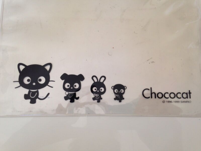 "SANRIO Chococat 1996 Vinyl Pouch Bag See Through 8.5"" x 8.5"""