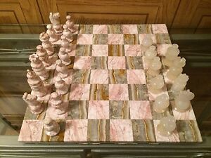 Marble chess set from Mexico