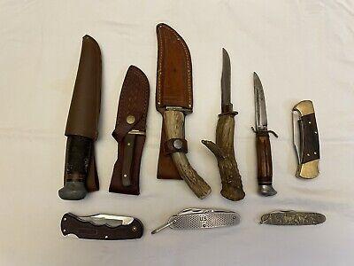VINTAGE LOT OF 9 KNIVES(BUCK,CAMILLUS,REMINGTON,WESTERN,PIC,J,JACOBS