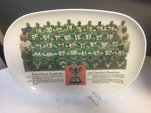 Saskatchewan Roughriders 1966 Grey Cup Plate