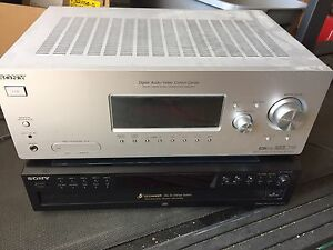 Sony home theatre receiver & 5 disc cd changer