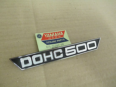 NOS <em>YAMAHA</em> TX500 XS500 SIDE COVER PANEL EMBLEM 371 21787 00