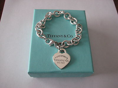"Authentic Tiffany & Co. Return to Tiffany Heart Tag Bracelet - 7.5"" with Box"