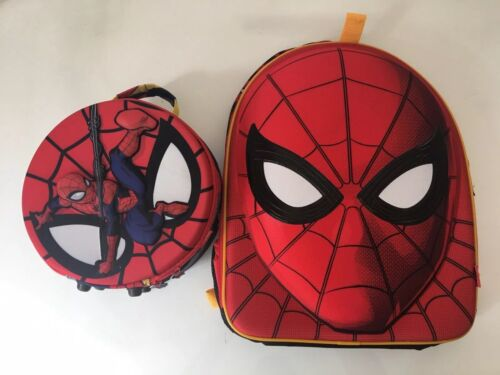 Disney Store Retired Hard Padded Spider-man Backpack And Lun