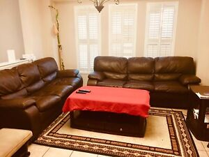 BEAUTIFUL BROWN LEATHER COUCHES $500 ONLY