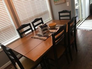 Solid wood kitchen dining table