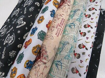 Harry Potter Hogwarts Magic Wizard Licensed 100% Cotton Patchwork Craft Fabric
