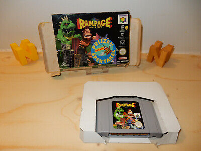 PAL N64: Rampage World Tour with Box without Manual OVP Boxed Nintendo 64