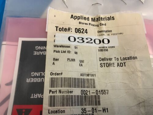 0021-01557 COVER HE FEEDTHRU, APPLIED MATERIAL (AMAT)