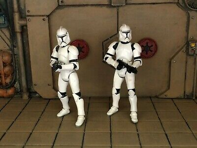 LOOSE STAR WARS LOT OF 2 THE 30th ANNIVERSARY PHASE 1 CLONE TROOPER
