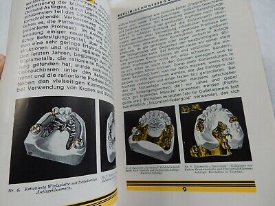 ART DECO  STEEL / GOLD FALSE TEETH / PLATE  BROCHURE 19 PAGES  WELL ILLUS WIPLA