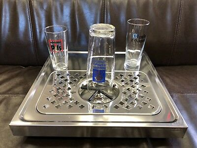 Rinser For Beer Glasscoffee Pitcher With Drip Tray