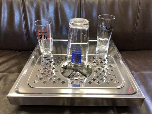 Rinser for beer glass/coffee pitcher  with drip tray