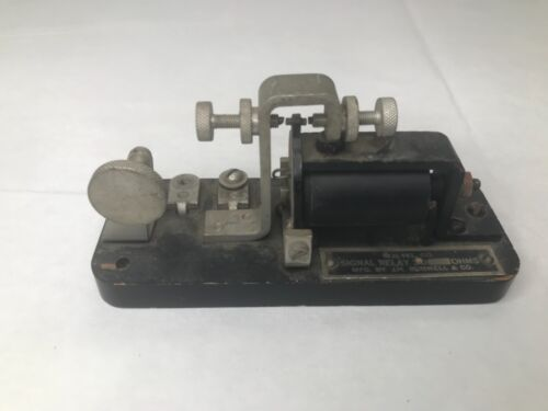 Telegraph Equipment - J.H. Bunnell Signal Relay 16 Ohms