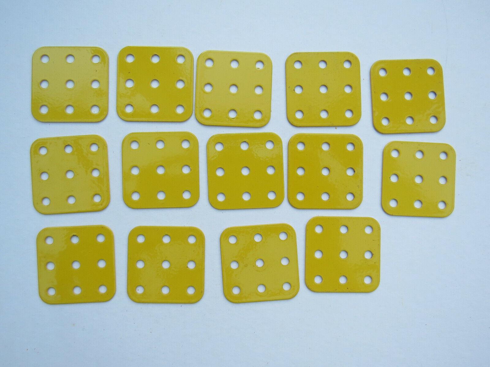 Meccano Rigid Flat Plate 1.5 X 1.5 74 X 14 Yellow French - £8.50