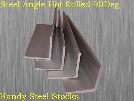 Steel Angle 20mm to 100mm Width - 3mm to 10mm Thick