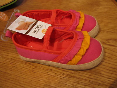 Baby Girl's slip on shoes sandals Carter's 2 pink 3-6M infant for sale  Shipping to India