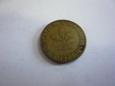 Rfa 5 pfenning pièce mark allemagne germany 1950 F