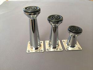 pied de meuble chrome pieds de meubles metalfuesse aluminium 5cm 8cm 10cm ebay. Black Bedroom Furniture Sets. Home Design Ideas